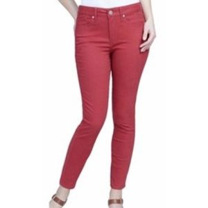 Seven7 red ankle jeans